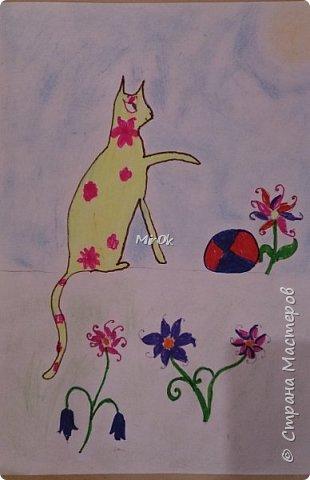 """Здравствуй """"Страна Мастеров"""" Хочу поделится рисунками своей дочки. Рисует она почти с пелёнок, ну 1,5 лет точно. Хочу показать вам некоторые рисунки: 1 Первый рисунок """"Сказки зимнего леса"""", рисовала в 10 лет в школу на конкурс, получила первое место. фото 17"""