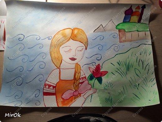 """Здравствуй """"Страна Мастеров"""" Хочу поделится рисунками своей дочки. Рисует она почти с пелёнок, ну 1,5 лет точно. Хочу показать вам некоторые рисунки: 1 Первый рисунок """"Сказки зимнего леса"""", рисовала в 10 лет в школу на конкурс, получила первое место. фото 3"""
