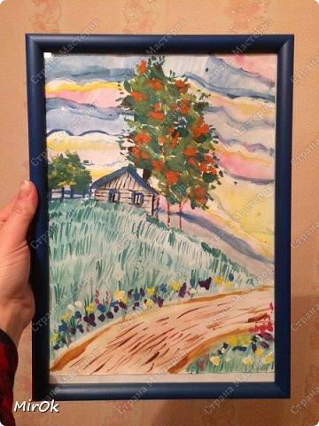 """Здравствуй """"Страна Мастеров"""" Хочу поделится рисунками своей дочки. Рисует она почти с пелёнок, ну 1,5 лет точно. Хочу показать вам некоторые рисунки: 1 Первый рисунок """"Сказки зимнего леса"""", рисовала в 10 лет в школу на конкурс, получила первое место. фото 4"""