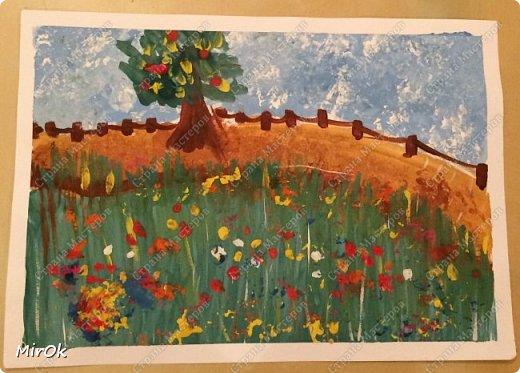 """Здравствуй """"Страна Мастеров"""" Хочу поделится рисунками своей дочки. Рисует она почти с пелёнок, ну 1,5 лет точно. Хочу показать вам некоторые рисунки: 1 Первый рисунок """"Сказки зимнего леса"""", рисовала в 10 лет в школу на конкурс, получила первое место. фото 5"""