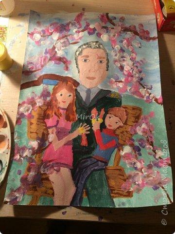 """Здравствуй """"Страна Мастеров"""" Хочу поделится рисунками своей дочки. Рисует она почти с пелёнок, ну 1,5 лет точно. Хочу показать вам некоторые рисунки: 1 Первый рисунок """"Сказки зимнего леса"""", рисовала в 10 лет в школу на конкурс, получила первое место. фото 7"""