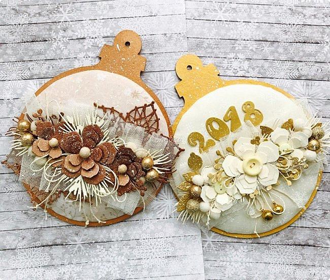 """Продолжаю сама готовиться к Новому году  и помогаю другим:)  Сегодня провела мк по открытке / карточка """" Новогодний шар"""".  фото 8"""