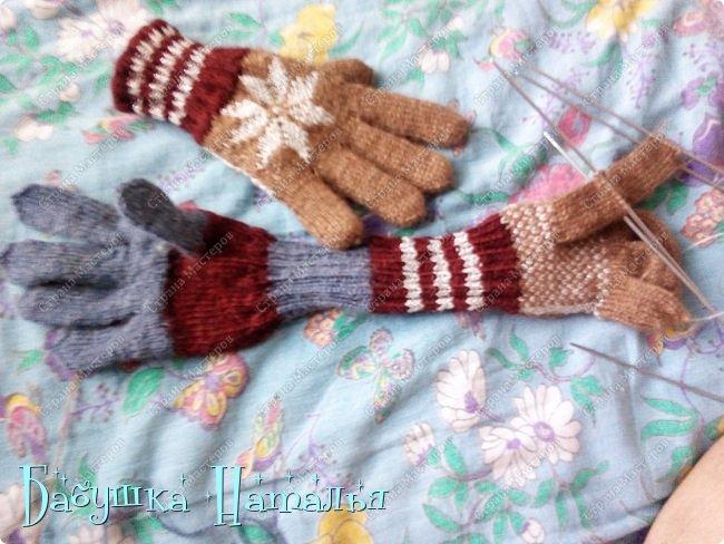 Двойные перчатки из остаточков
