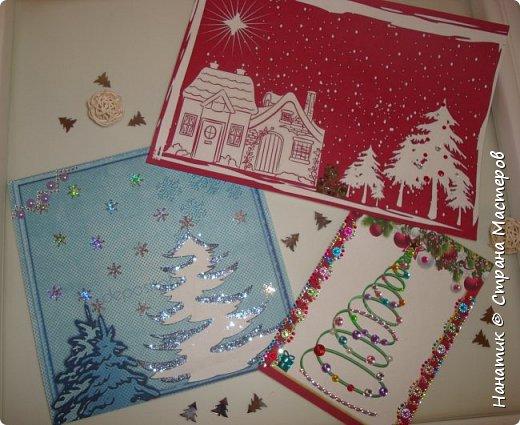 Вот такие милые, простые и быстрые в изготовлении открытки у нас получились.  фото 1