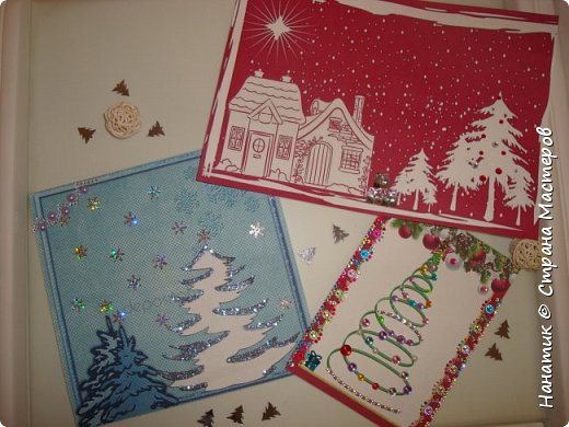 Вот такие милые, простые и быстрые в изготовлении открытки у нас получились.  фото 10