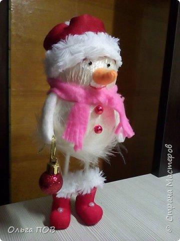 Вот такой Снеговичок получился... фото 1
