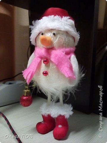 Вот такой Снеговичок получился... фото 2