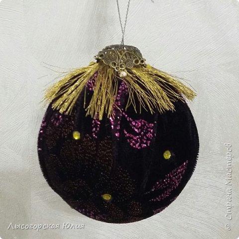 Всем здравствуйте!  Оформила еще несколько шариков новогодних и в садик на выставку ёлочку. фото 12
