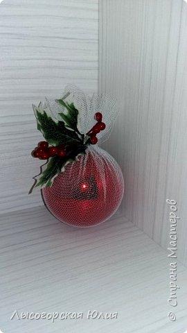 Всем здравствуйте!  Оформила еще несколько шариков новогодних и в садик на выставку ёлочку. фото 13