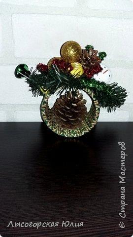 Всем здравствуйте!  Оформила еще несколько шариков новогодних и в садик на выставку ёлочку. фото 6