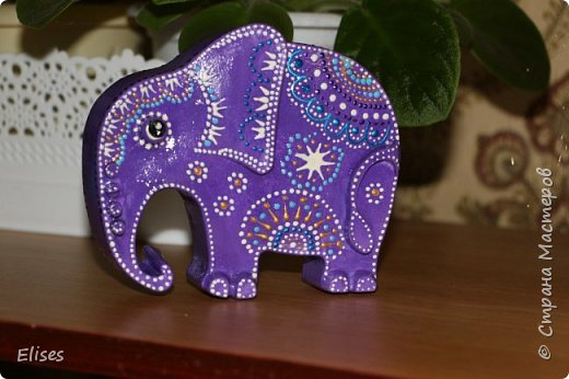 Вдохновили работы Натальи Литвиновой http://stranamasterov.ru/node/1122063. И это мой первый слоник. Очень понравилось его делать. Спасибо Наталья. фото 1