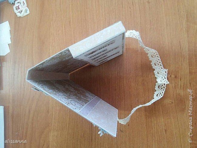 Доброе время суток...жители Страны...))) начинаю и я потихоньку готовиться к Новому году...)))  вот такая упаковка получилась у меня для сладкого подарка... Елочка из остатков бумаги ( которых всегда много остается от различных работ )...хорошая утилизация...)))))) фото 7