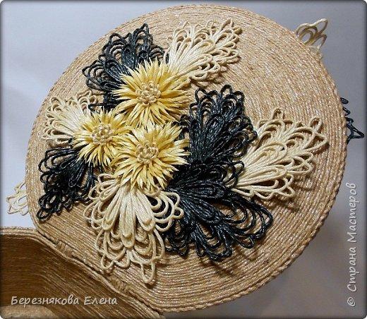 """И снова мой вам привет))Продолжаю свою серию больших """"цветочных"""" шкатулок.На повестке дня хризантемы из шпагата. фото 5"""