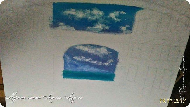 Цветущий дворик. масло,холст Картинку подсмотрела у своей любимой художницы-Натальи Ширяевой. И очень захотелось повторить.Тем более-КОПИРОВАНИЕ НАШЕ ВСЁ))) фото 2