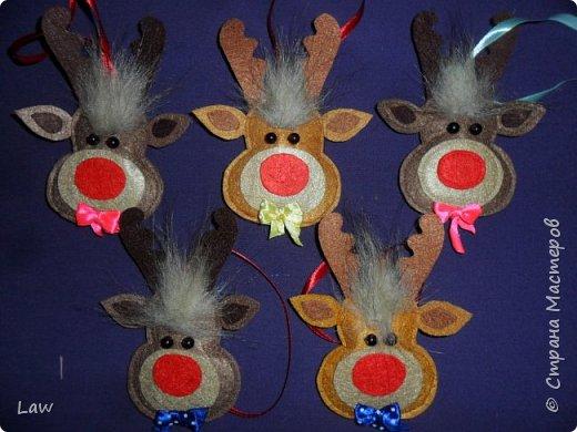 сшили 15 оленей игрушек)они уже готовы повиснуть на елках) фото 2