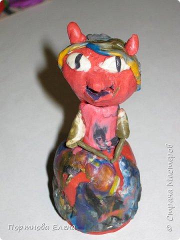 Любимый пластилин, работы моей Дочки Юли.  Кошечки на пикнике.Размер 3х3 см. фото 4