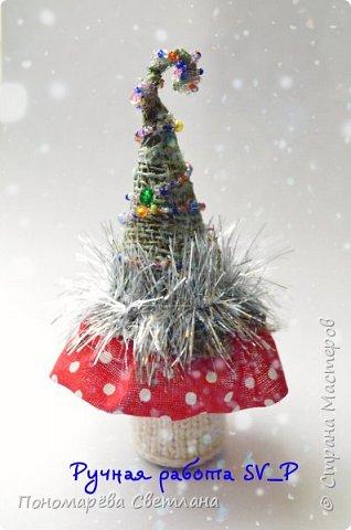 Готовимся к Новому Году. Очаровательные, маленькие сувенирные ёлочки. Подготовлены к Рождественской ярмарке.  фото 4