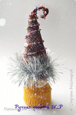 Готовимся к Новому Году. Очаровательные, маленькие сувенирные ёлочки. Подготовлены к Рождественской ярмарке.  фото 5