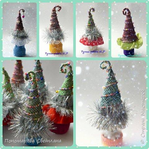 Готовимся к Новому Году. Очаровательные, маленькие сувенирные ёлочки. Подготовлены к Рождественской ярмарке.  фото 1