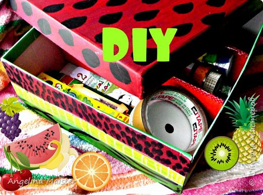 Видео. DIY Коробка-органайзер для мелочей Арбуз.