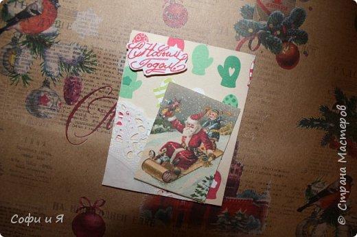 Привет всем..Ну в общем вот..Сегодня еще только 3 декабря..Но вот такие новогодние карточки у меня  получились... Выбирайте.. №1 для- zabawulaj фото 1