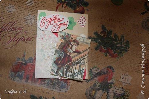 Привет всем..Ну в общем вот..Сегодня еще только 3 декабря..Но вот такие новогодние карточки у меня  получились... Выбирайте.. №1 для- zabawulaj фото 5