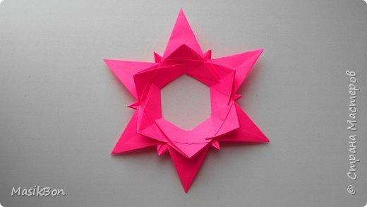Рождественская звезда из бумаги. Оригами елочная игрушка своими руками