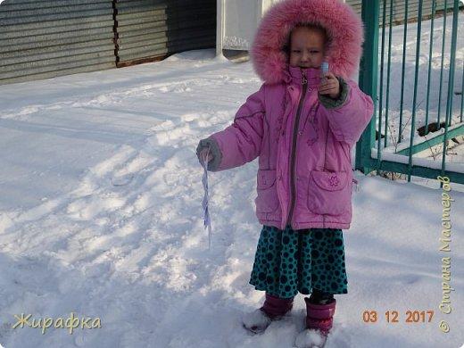 Маленькая снежинка Миланы, жёлтая Кристины  и бело-фиолетовая, хотя по фото этого и не скажешь, Даши. фото 13
