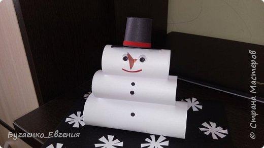 Всем добрый день! Вот такой снеговичок получился для конкурса в детский сад.  фото 1