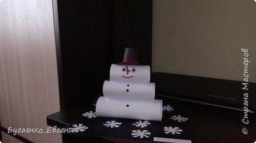 Всем добрый день! Вот такой снеговичок получился для конкурса в детский сад.  фото 2