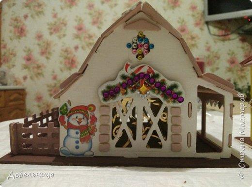 Решила сделать для внука Рождественский городок. фото 4