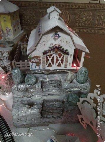 Решила сделать для внука Рождественский городок. фото 5