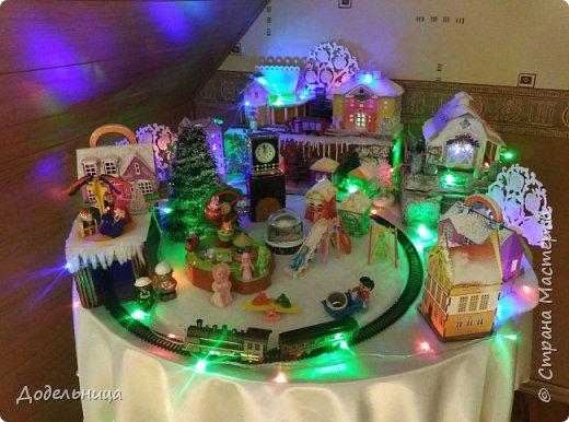 Решила сделать для внука Рождественский городок. фото 2