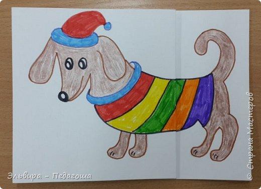 """В ожидании нового года продолжаем мастерить на """"новогоднюю тему"""". Вот сегодня, например, у нас открыточки к наступающему году Собаки. фото 14"""