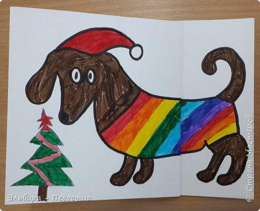 """В ожидании нового года продолжаем мастерить на """"новогоднюю тему"""". Вот сегодня, например, у нас открыточки к наступающему году Собаки. фото 18"""