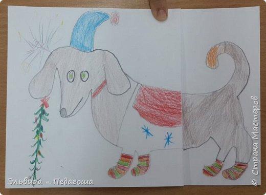 """В ожидании нового года продолжаем мастерить на """"новогоднюю тему"""". Вот сегодня, например, у нас открыточки к наступающему году Собаки. фото 20"""