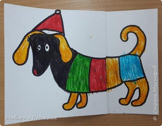 """В ожидании нового года продолжаем мастерить на """"новогоднюю тему"""". Вот сегодня, например, у нас открыточки к наступающему году Собаки. фото 22"""
