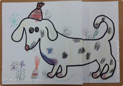 """В ожидании нового года продолжаем мастерить на """"новогоднюю тему"""". Вот сегодня, например, у нас открыточки к наступающему году Собаки. фото 28"""