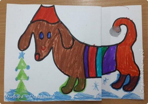 """В ожидании нового года продолжаем мастерить на """"новогоднюю тему"""". Вот сегодня, например, у нас открыточки к наступающему году Собаки. фото 8"""