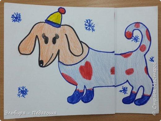 """В ожидании нового года продолжаем мастерить на """"новогоднюю тему"""". Вот сегодня, например, у нас открыточки к наступающему году Собаки. фото 34"""
