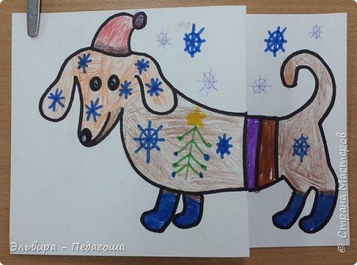 """В ожидании нового года продолжаем мастерить на """"новогоднюю тему"""". Вот сегодня, например, у нас открыточки к наступающему году Собаки. фото 36"""