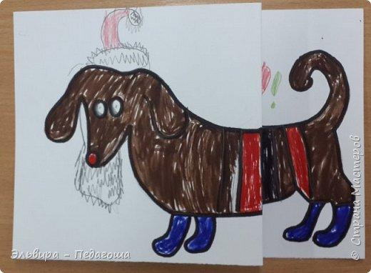 """В ожидании нового года продолжаем мастерить на """"новогоднюю тему"""". Вот сегодня, например, у нас открыточки к наступающему году Собаки. фото 38"""