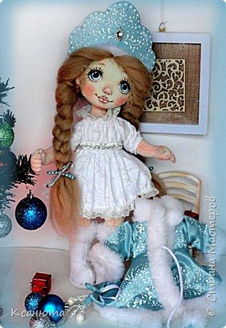 Снегурочка. Куколка текстильная. фото 2