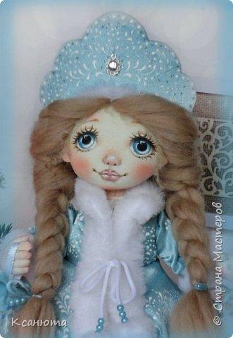 Снегурочка. Куколка текстильная. фото 4