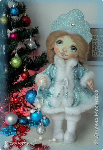 Снегурочка. Куколка текстильная. фото 5