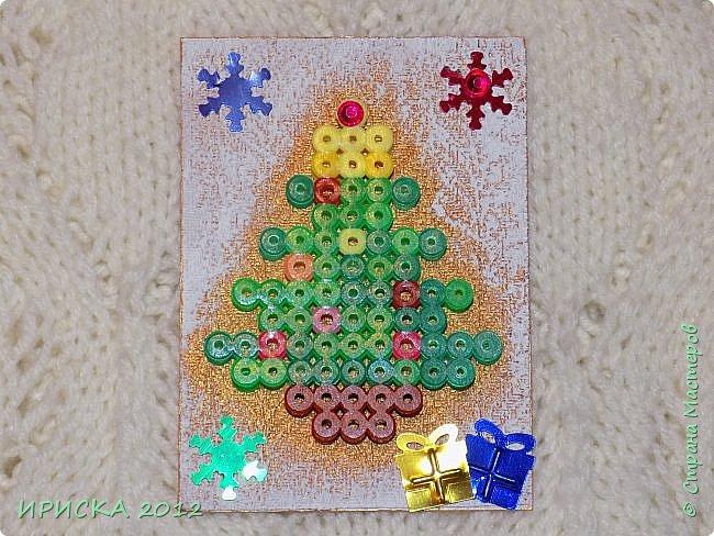 Привет всем гостям моей странички! Представляю Вам две новогодние серии АТС. Карточки в обеих сериях с использованием фигурок из термомозаики. Основа карточек плотный пластик, сверху фактурная плотная ткань (спасибо Эл!). В декоре использовала пайетки снежинки и подарочки. Карточки покрашены золотой краской, оттеняла белым акрилом для эффекта морозного узора.   фото 22