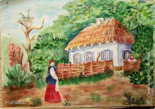 Все три работы я выполняла по урокам Dari Art в инете. Мне просто хотелось порисовать, мне это нравится, но к сожалению я умею только копировать, срисовывать чьи-то работы... Эта работа была подарена другу нашей семьи, замечательной Леночке Васильевне.  фото 6