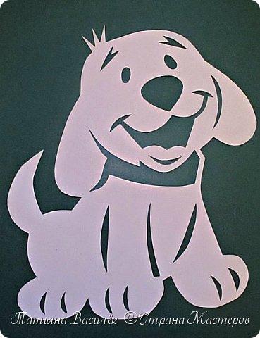 """Несколько лет ждала эта очаровательная собачка своей очереди,  обитая в моих """"картиночных"""" запасах...  Нарисовала шаблончик. И вот она - моя симпатяга - такая получилась. фото 3"""