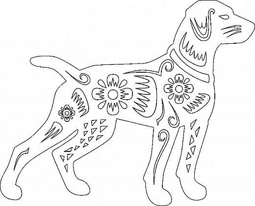 """Несколько лет ждала эта очаровательная собачка своей очереди,  обитая в моих """"картиночных"""" запасах...  Нарисовала шаблончик. И вот она - моя симпатяга - такая получилась. фото 5"""