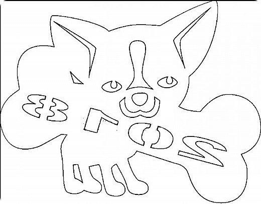 """Несколько лет ждала эта очаровательная собачка своей очереди,  обитая в моих """"картиночных"""" запасах...  Нарисовала шаблончик. И вот она - моя симпатяга - такая получилась. фото 14"""